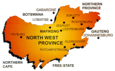 Map of North West Province