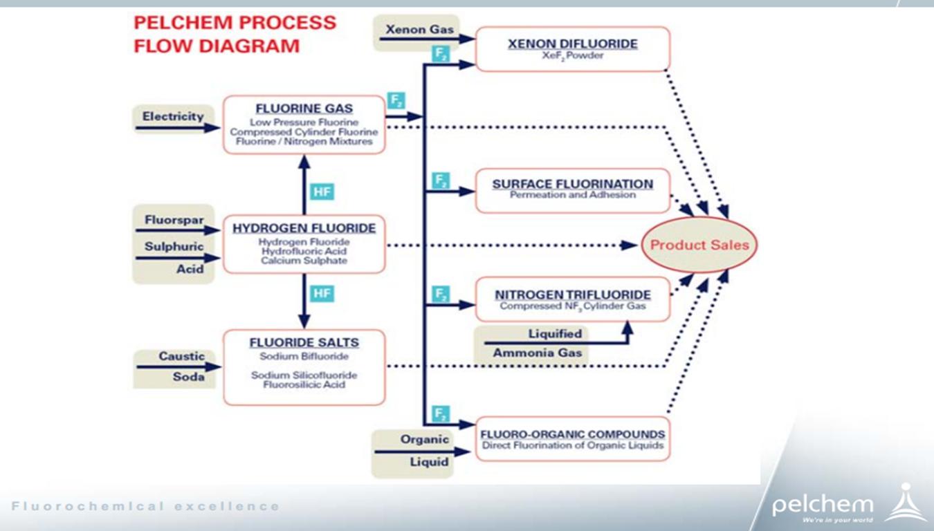 Pelchem process flow chart