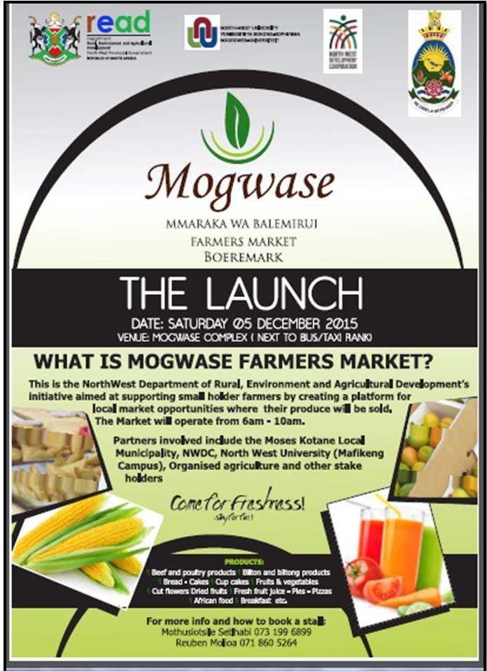 Mogwase Farmer's Market advert
