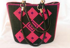 African beaded bag